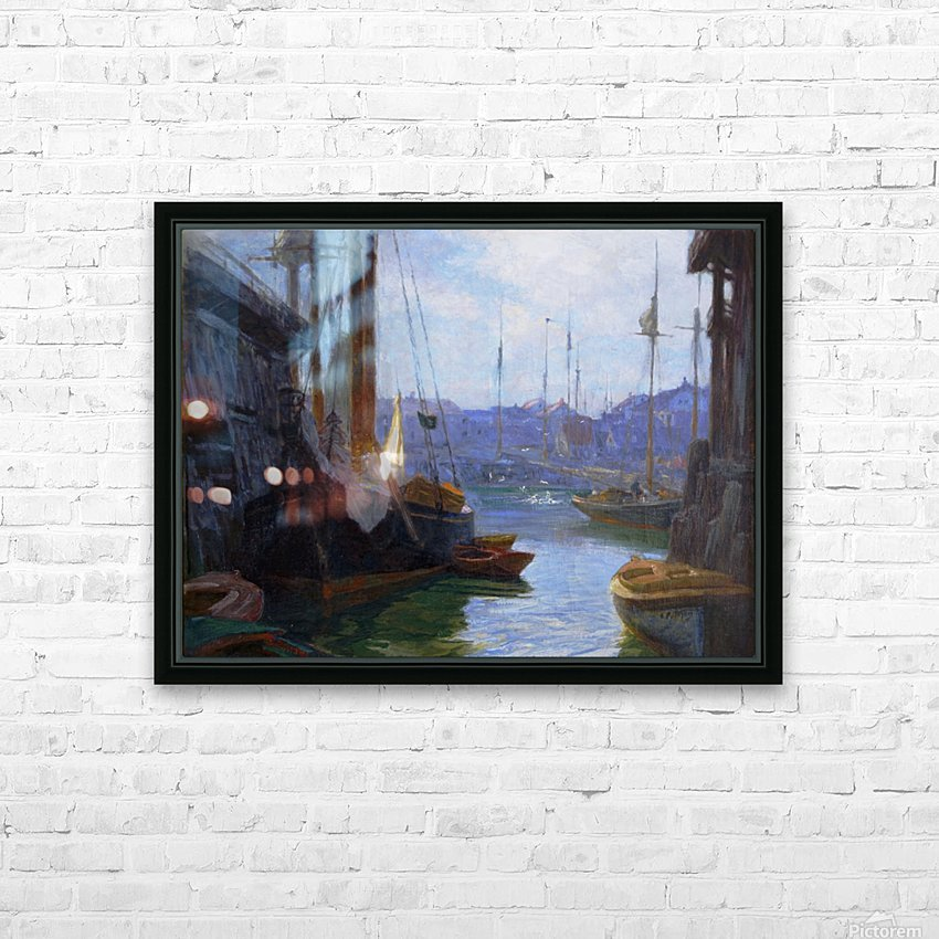 Gloucester Harbor HD Sublimation Metal print with Decorating Float Frame (BOX)