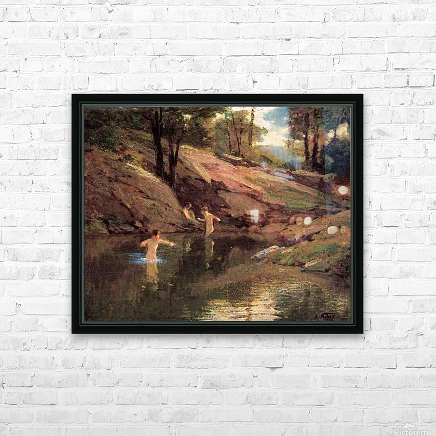 The Swimming Hole HD Sublimation Metal print with Decorating Float Frame (BOX)