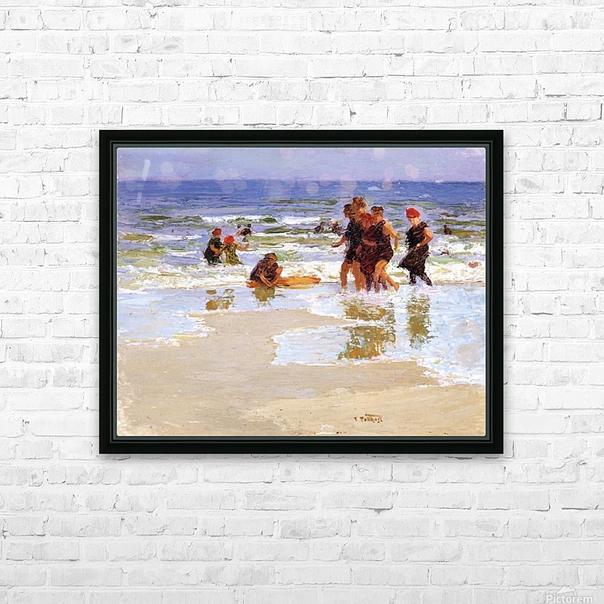 At the Seashore II HD Sublimation Metal print with Decorating Float Frame (BOX)
