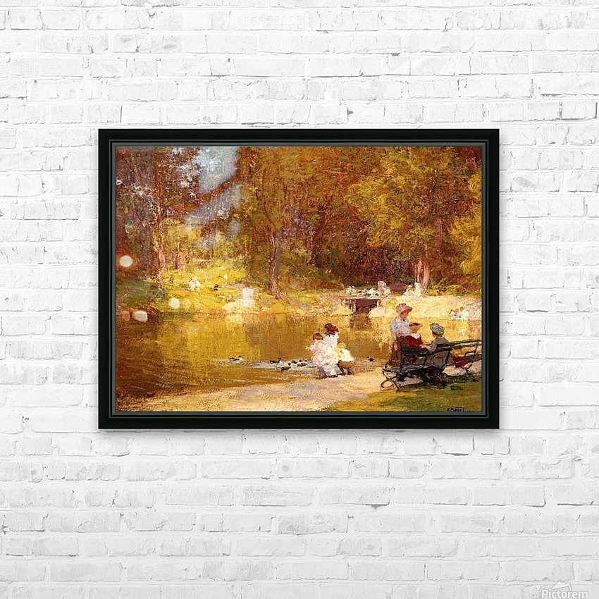 In Central Park HD Sublimation Metal print with Decorating Float Frame (BOX)