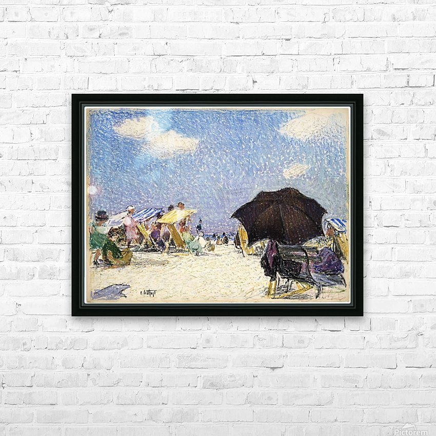 Scene by the beach HD Sublimation Metal print with Decorating Float Frame (BOX)