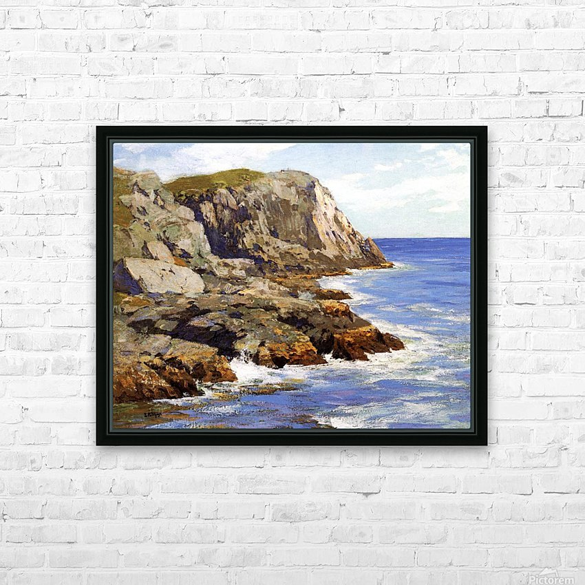 Cliffs and the sea landscape HD Sublimation Metal print with Decorating Float Frame (BOX)