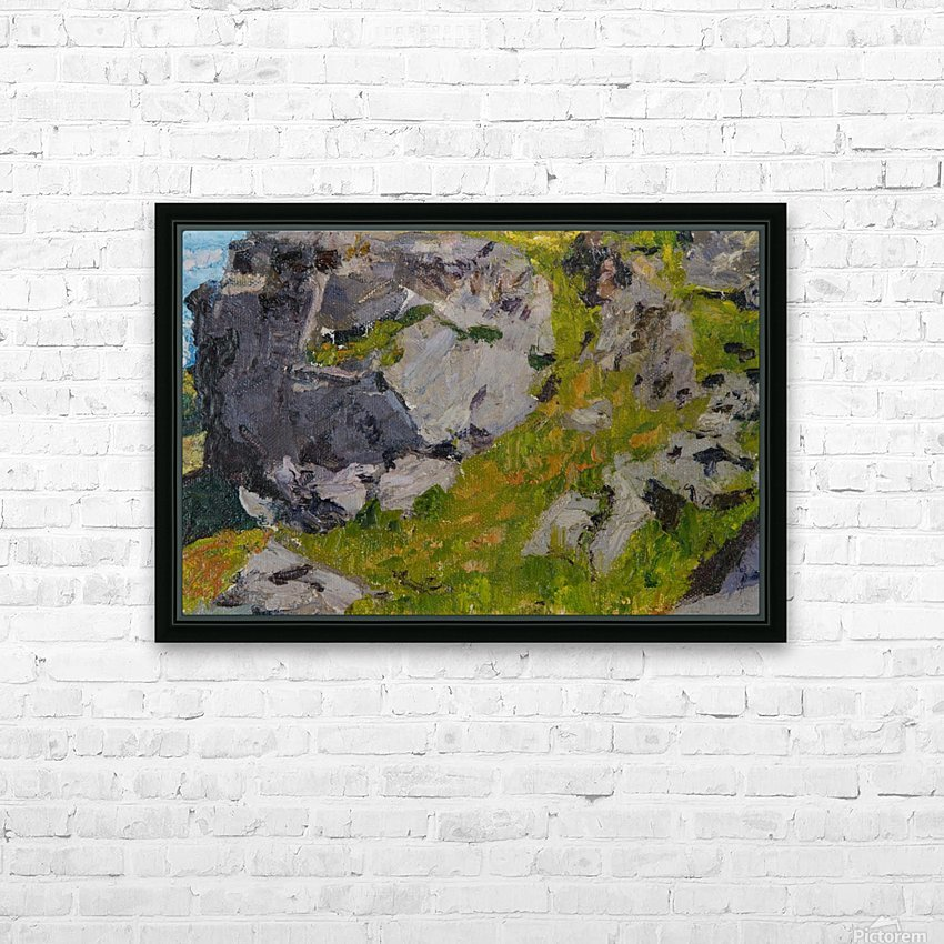 Field with rocks HD Sublimation Metal print with Decorating Float Frame (BOX)