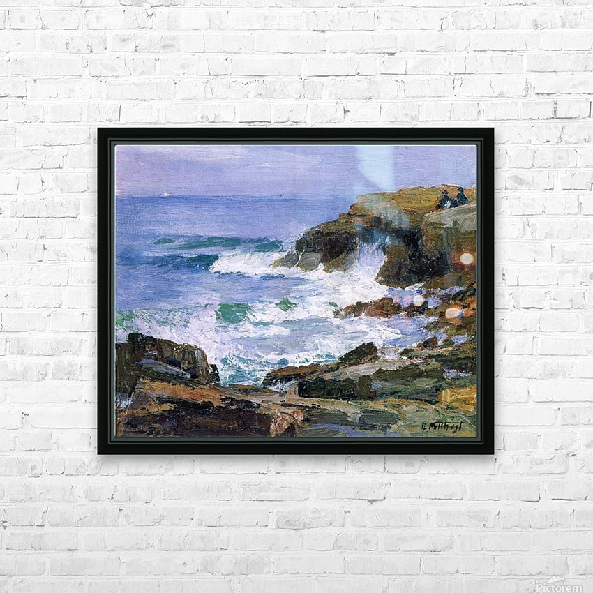 Looking out to Sea HD Sublimation Metal print with Decorating Float Frame (BOX)