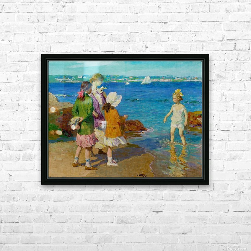 At The Beach and Cold Feet HD Sublimation Metal print with Decorating Float Frame (BOX)