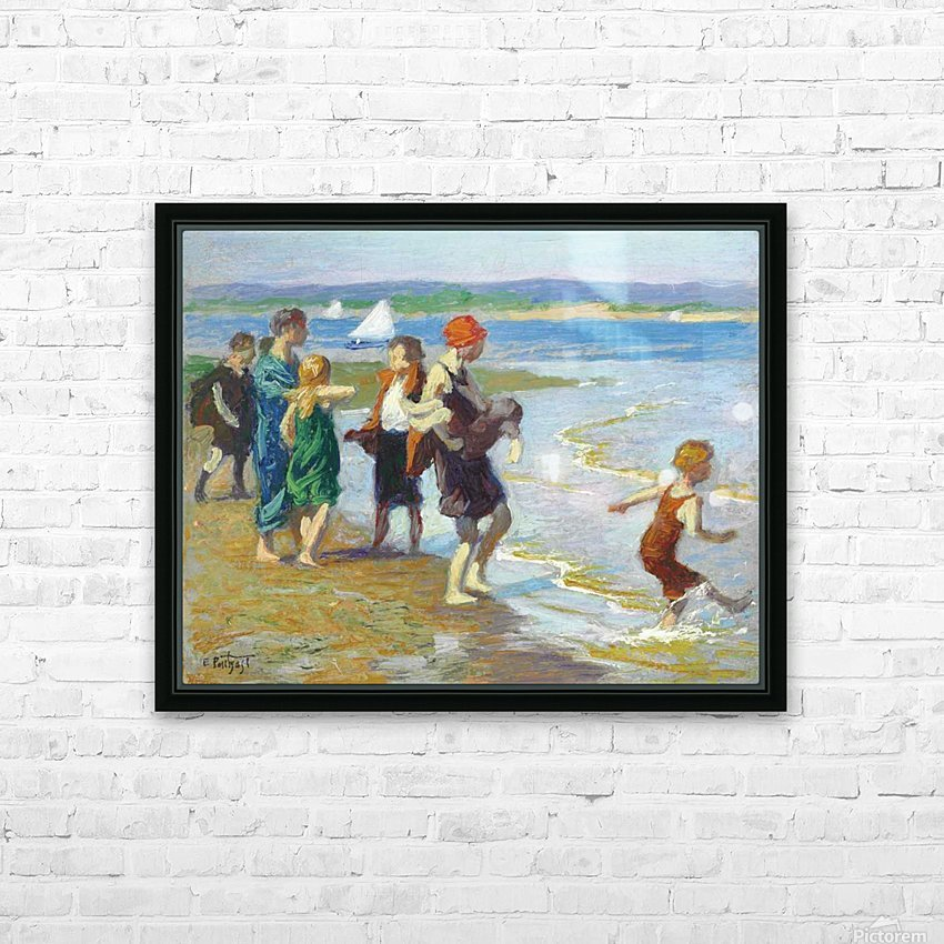 The bathing beach HD Sublimation Metal print with Decorating Float Frame (BOX)