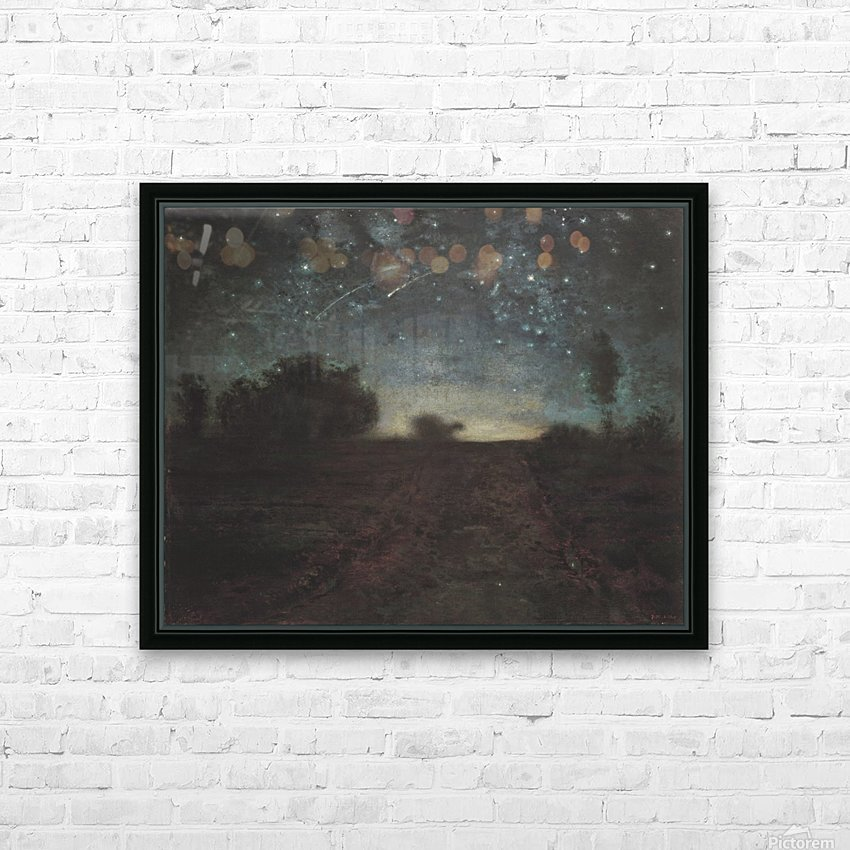 Starry Night HD Sublimation Metal print with Decorating Float Frame (BOX)