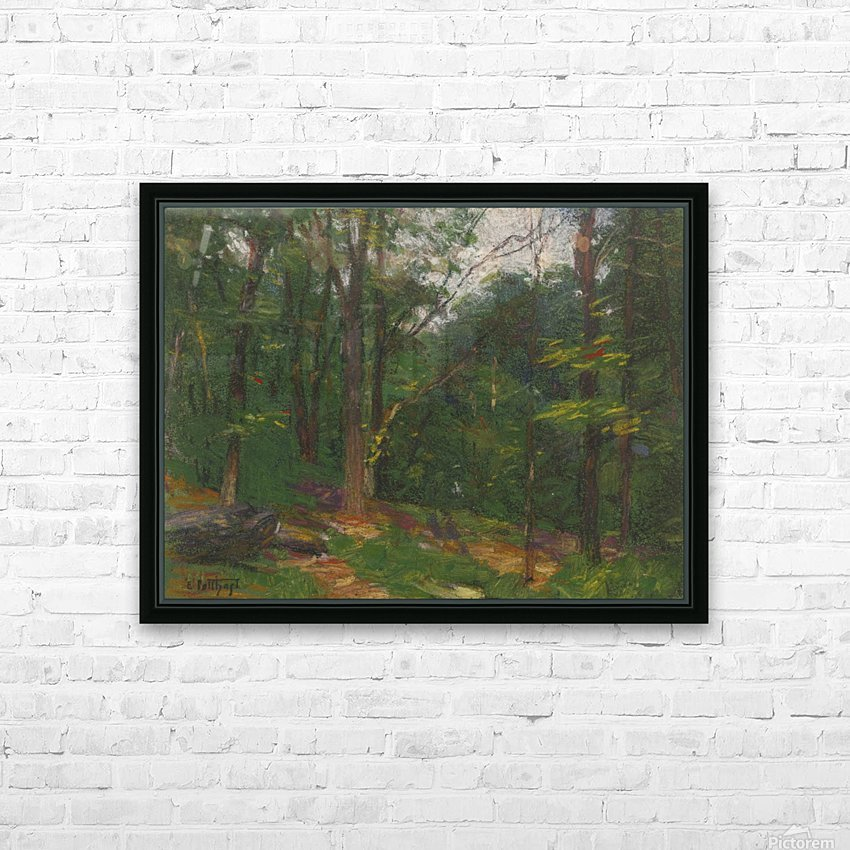 Forest in the spring HD Sublimation Metal print with Decorating Float Frame (BOX)