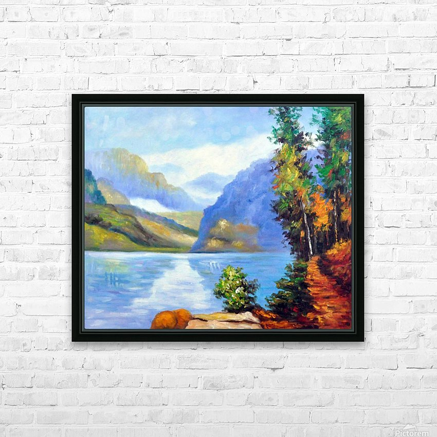 Lake Louise, British Columbia HD Sublimation Metal print with Decorating Float Frame (BOX)