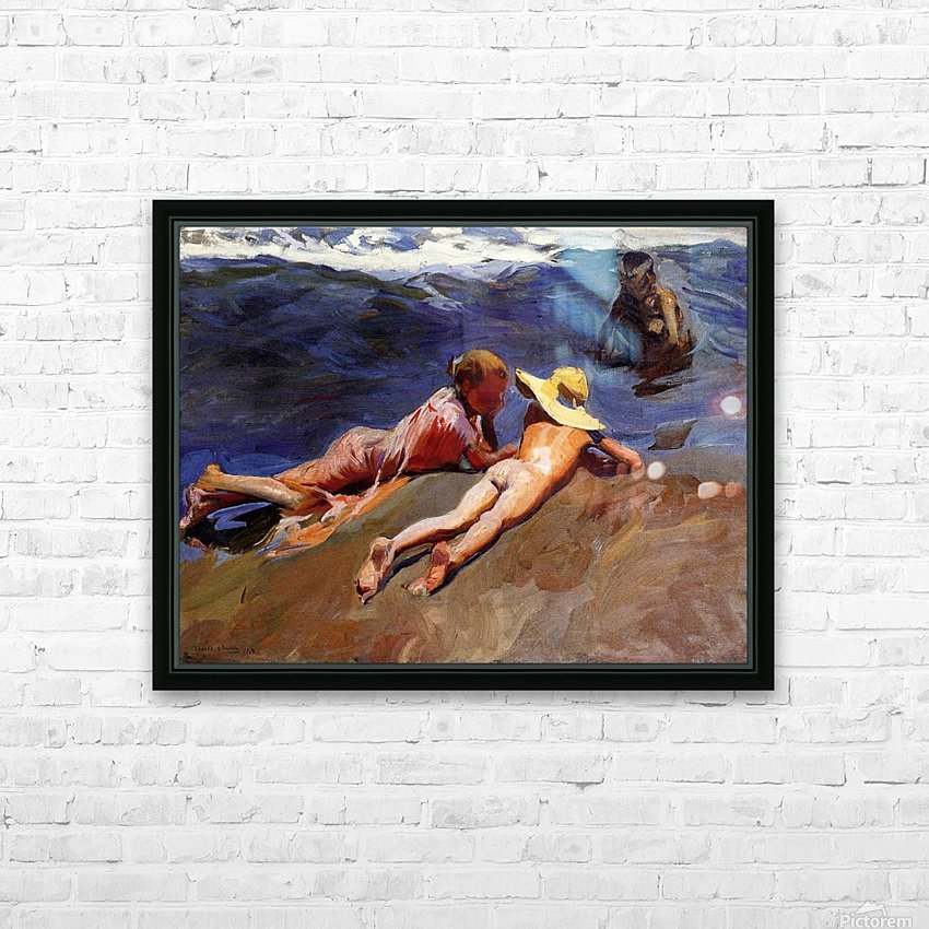 Bathers at Valencia HD Sublimation Metal print with Decorating Float Frame (BOX)