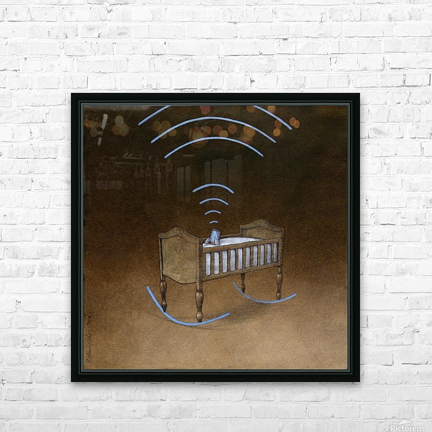 wireless HD Sublimation Metal print with Decorating Float Frame (BOX)