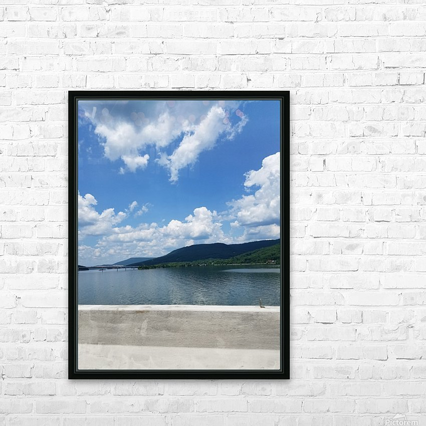 Looking Out Over Water HD Sublimation Metal print with Decorating Float Frame (BOX)