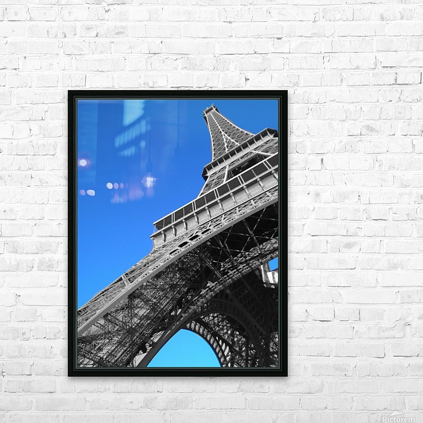 silver Eiffel tower Paris HD Sublimation Metal print with Decorating Float Frame (BOX)