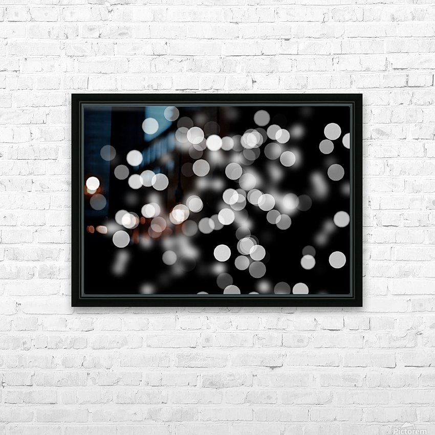Bokeh Out Of Focus Black White Background Light HD Sublimation Metal print with Decorating Float Frame (BOX)