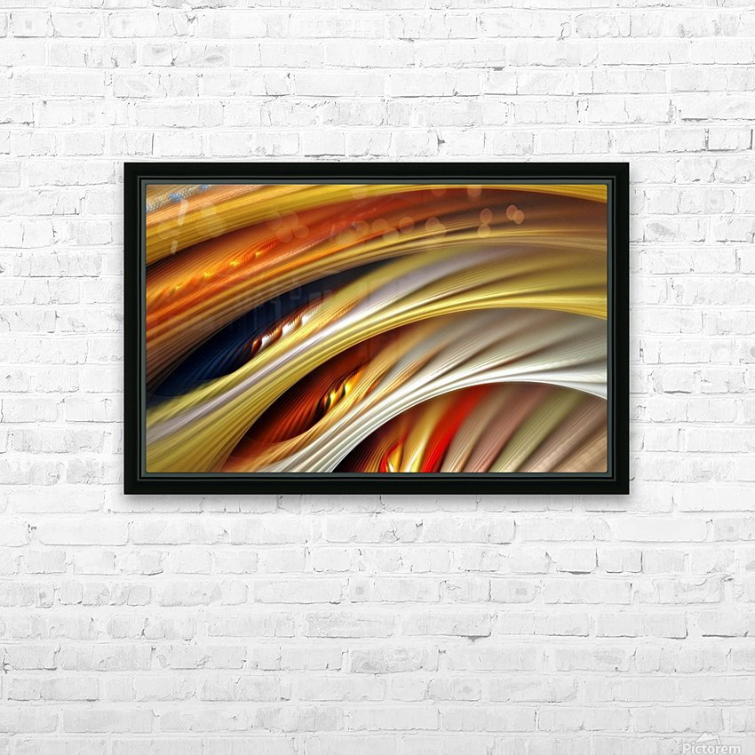 Colors Stripes Abstract Background Strings HD Sublimation Metal print with Decorating Float Frame (BOX)