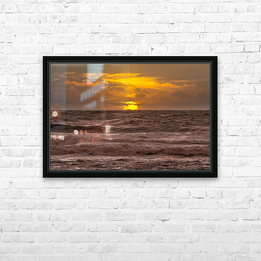 Fire & Water III HD Sublimation Metal print with Decorating Float Frame (BOX)
