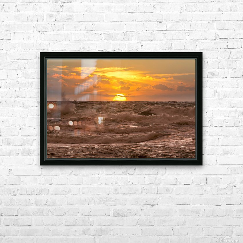 Fire & Water II HD Sublimation Metal print with Decorating Float Frame (BOX)
