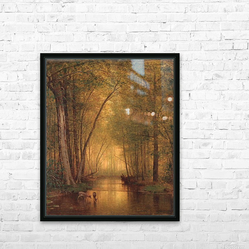 Forest Landscape HD Sublimation Metal print with Decorating Float Frame (BOX)