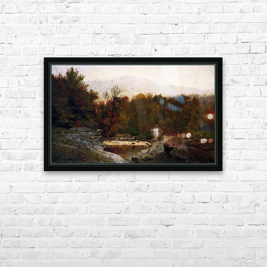 Autumn, Catskill Mountains in the Mist HD Sublimation Metal print with Decorating Float Frame (BOX)