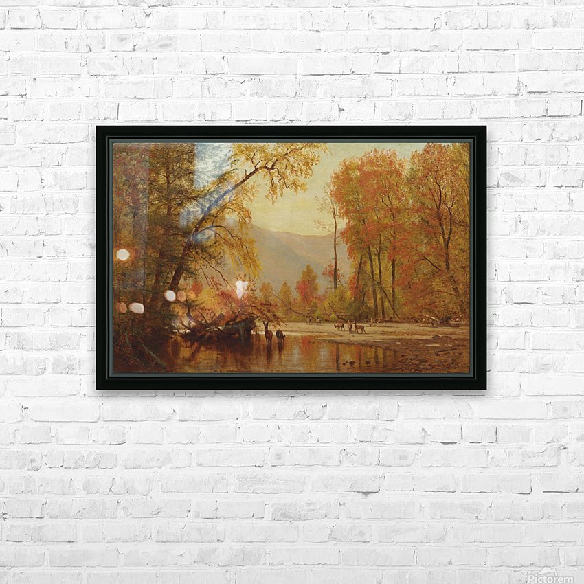 Autumn on the Delaware HD Sublimation Metal print with Decorating Float Frame (BOX)