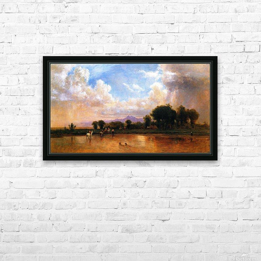 On the Plains Cache la Poudre River HD Sublimation Metal print with Decorating Float Frame (BOX)