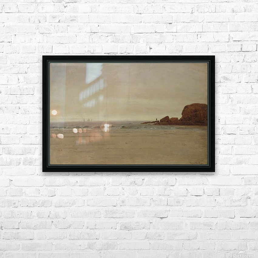 Beach and Rocks HD Sublimation Metal print with Decorating Float Frame (BOX)
