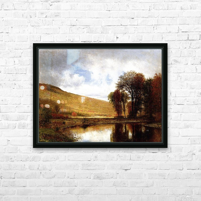 Autumn on the Deleware HD Sublimation Metal print with Decorating Float Frame (BOX)