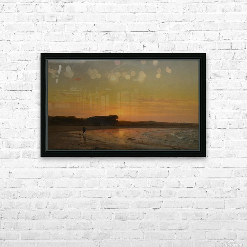 Second Beach Newport HD Sublimation Metal print with Decorating Float Frame (BOX)