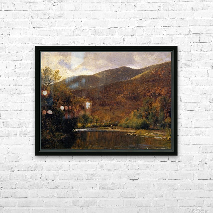 Along the Delaware HD Sublimation Metal print with Decorating Float Frame (BOX)