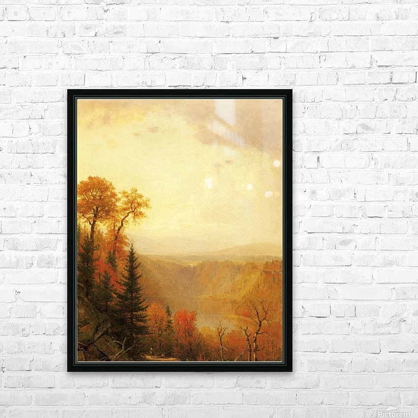 A lake in the forest HD Sublimation Metal print with Decorating Float Frame (BOX)