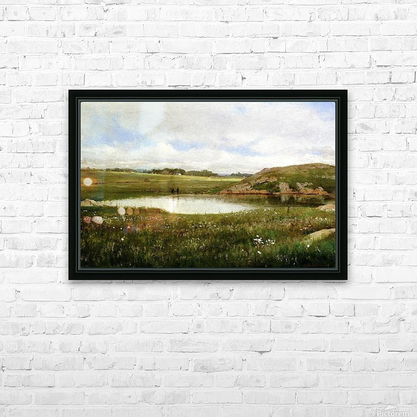 Freshwater Pond in Summer Rhode Island HD Sublimation Metal print with Decorating Float Frame (BOX)