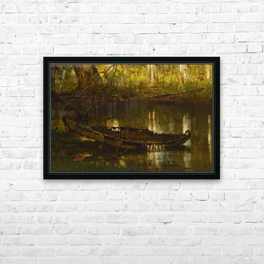 An abandoned boat HD Sublimation Metal print with Decorating Float Frame (BOX)
