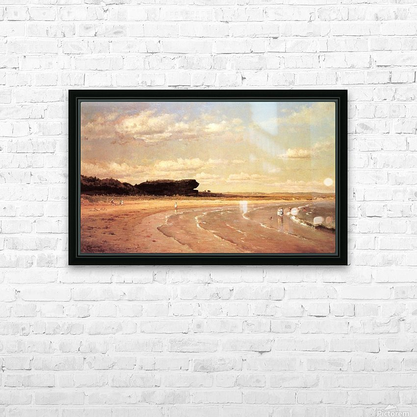 Second Beach Newport in sunset HD Sublimation Metal print with Decorating Float Frame (BOX)
