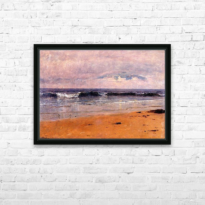 Seascape by the beach HD Sublimation Metal print with Decorating Float Frame (BOX)
