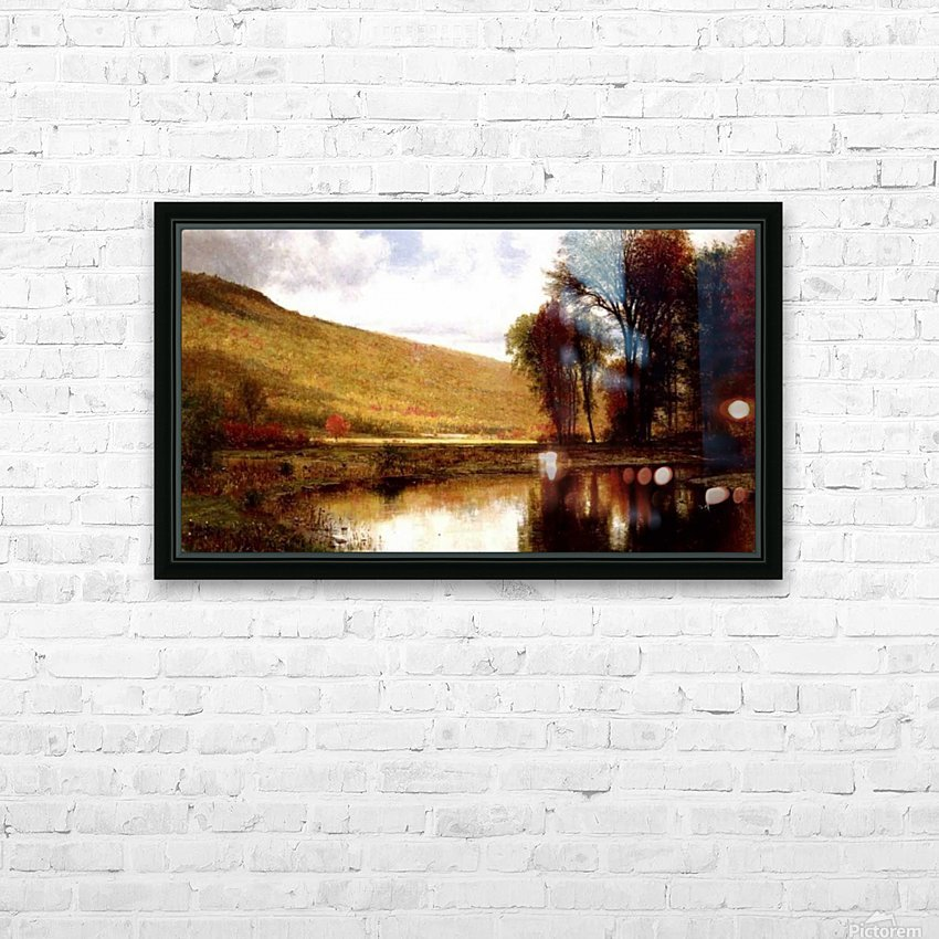 Landscape with a lake HD Sublimation Metal print with Decorating Float Frame (BOX)