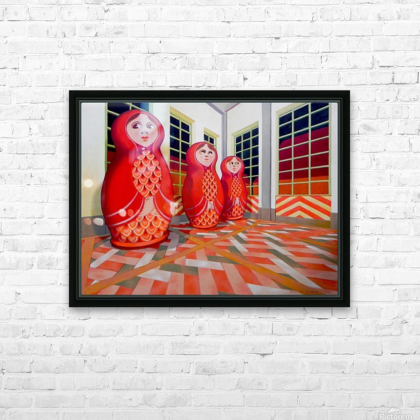 Matryoshka HD Sublimation Metal print with Decorating Float Frame (BOX)