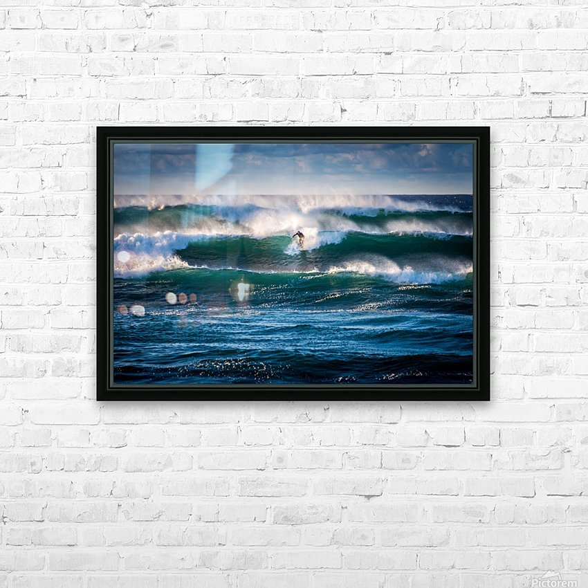Surfing HD Sublimation Metal print with Decorating Float Frame (BOX)