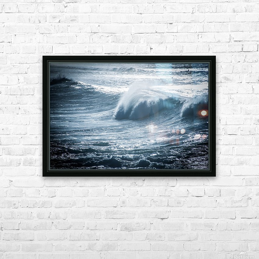 Wave HD Sublimation Metal print with Decorating Float Frame (BOX)