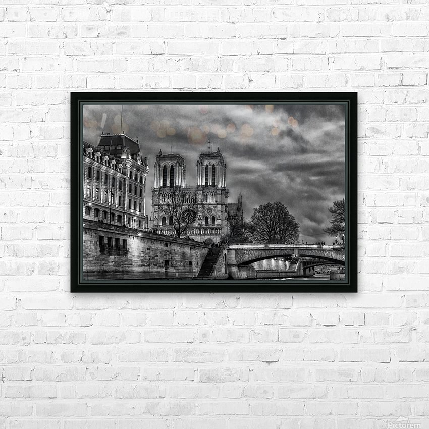 Notre Dame HD Sublimation Metal print with Decorating Float Frame (BOX)
