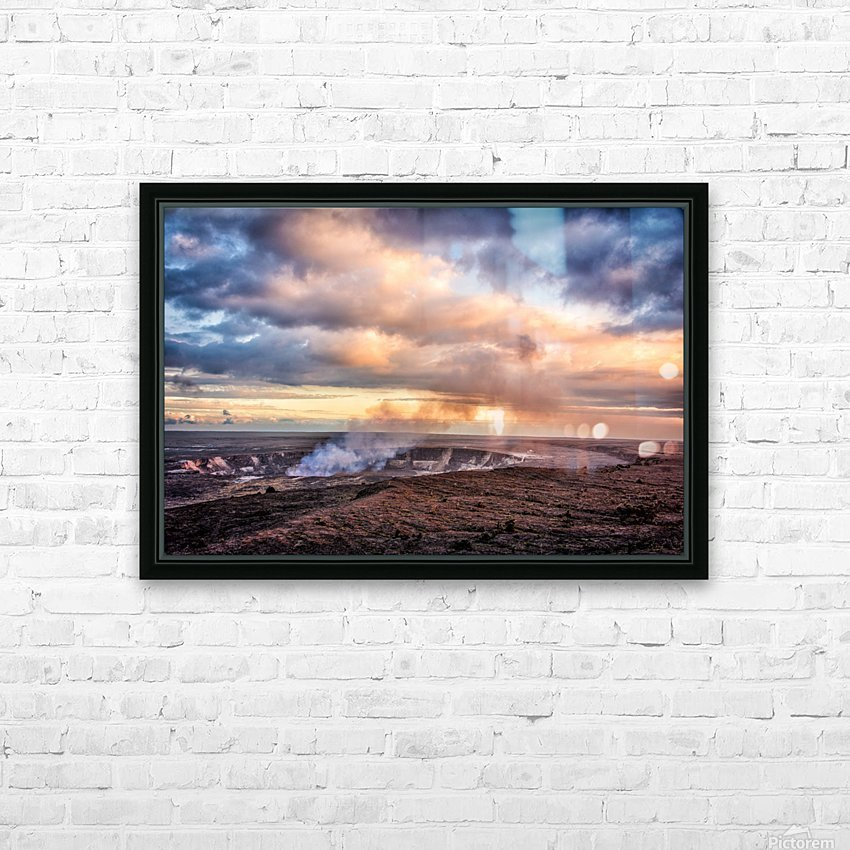 Kilauea HD Sublimation Metal print with Decorating Float Frame (BOX)