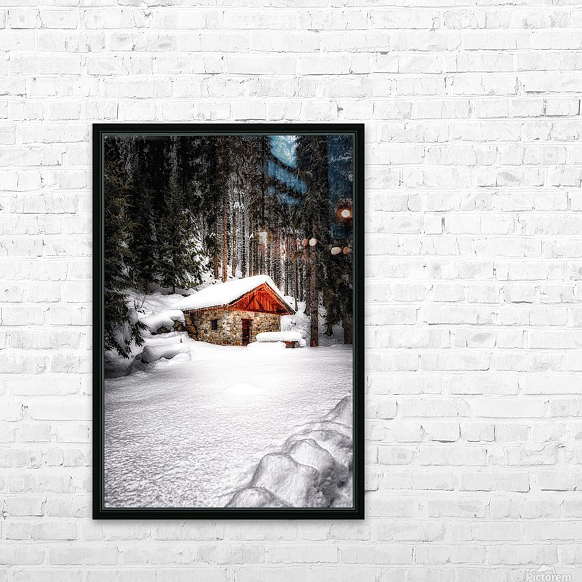 The Alps HD Sublimation Metal print with Decorating Float Frame (BOX)