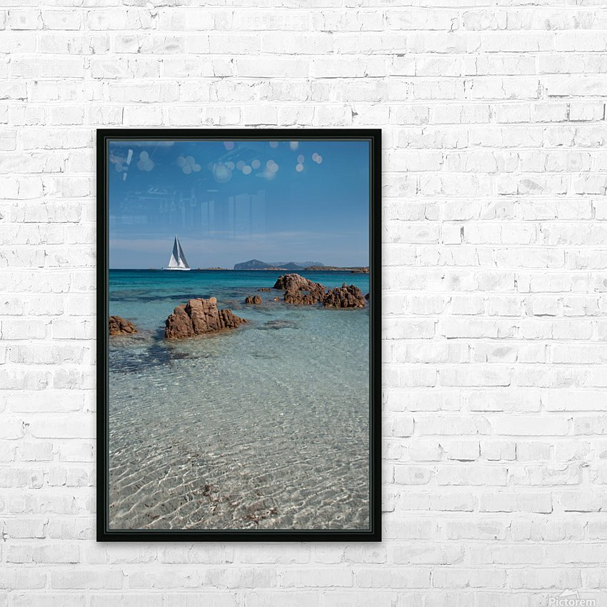 Mediterranean HD Sublimation Metal print with Decorating Float Frame (BOX)