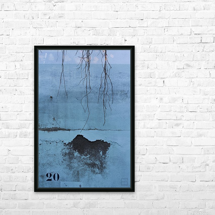 blue wall HD Sublimation Metal print with Decorating Float Frame (BOX)