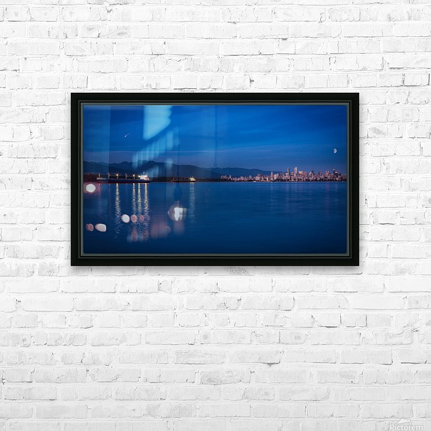 Shooting Star over Vancouver HD Sublimation Metal print with Decorating Float Frame (BOX)