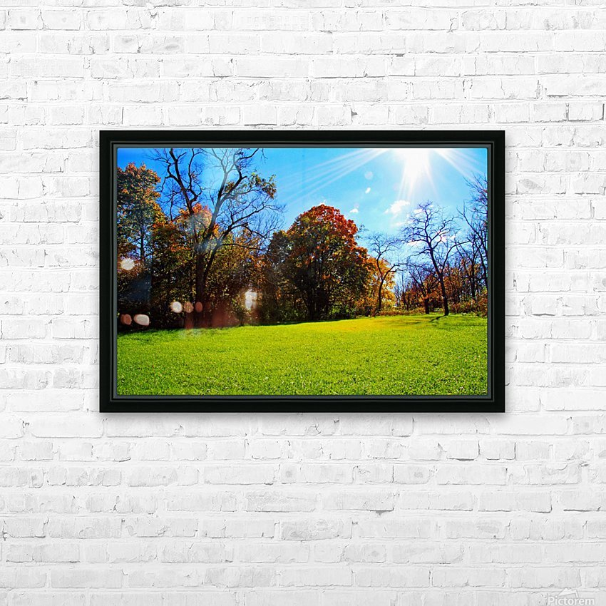 Sunny Fall Day HD Sublimation Metal print with Decorating Float Frame (BOX)