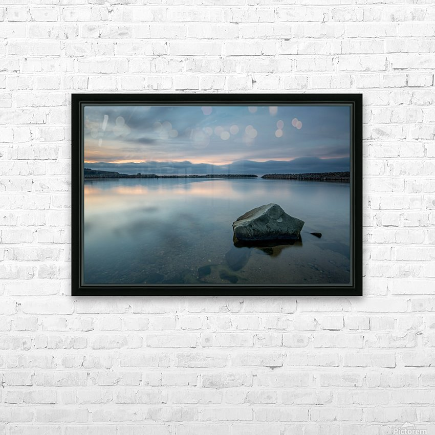 Inside the Harbour HD Sublimation Metal print with Decorating Float Frame (BOX)