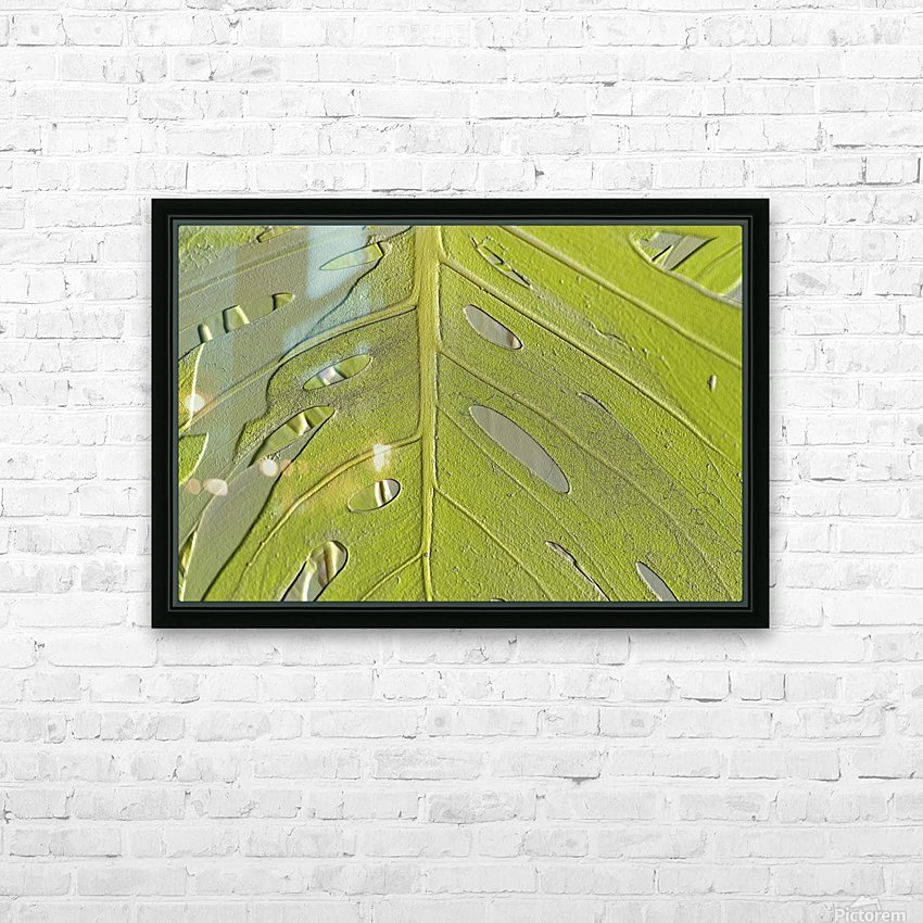 Leaf Texture Background HD Sublimation Metal print with Decorating Float Frame (BOX)