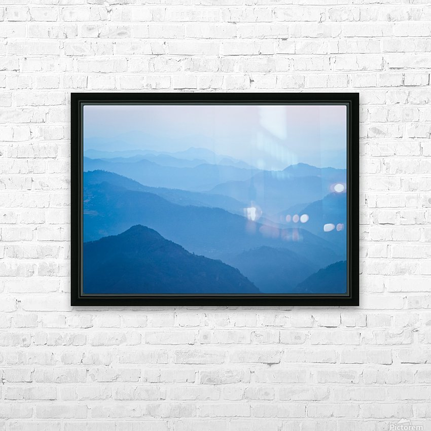Himalayas HD Sublimation Metal print with Decorating Float Frame (BOX)