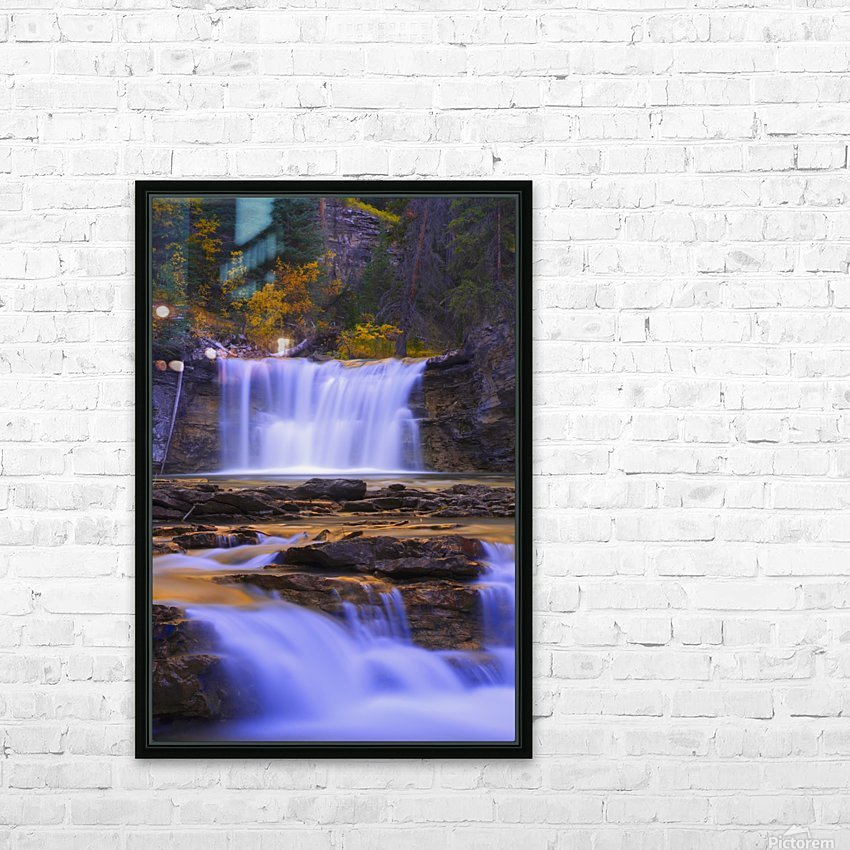 Johnston Canyon In Banff National Park, Alberta, Canada HD Sublimation Metal print with Decorating Float Frame (BOX)