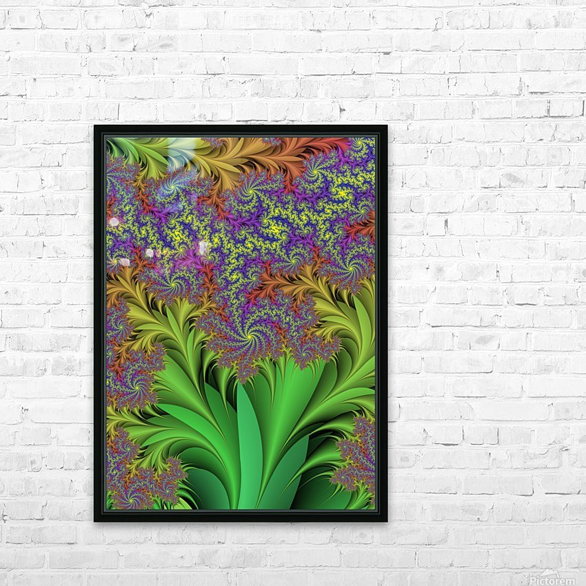 Abstract Design HD Sublimation Metal print with Decorating Float Frame (BOX)